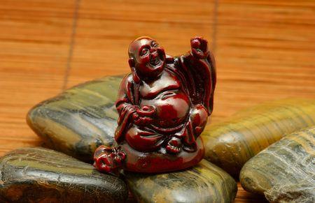 Foto van een Budha over Stones Stockfoto
