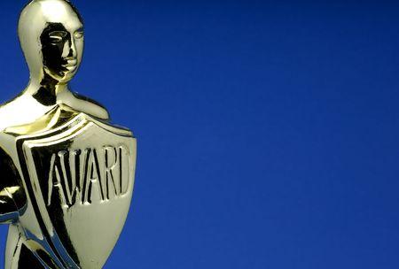 Photo of an Award Trophy Stock Photo