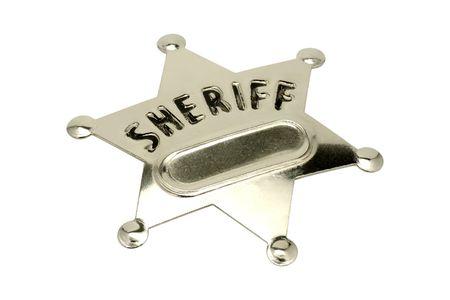sheriff badge: Aislado insignia de sheriff  Foto de archivo
