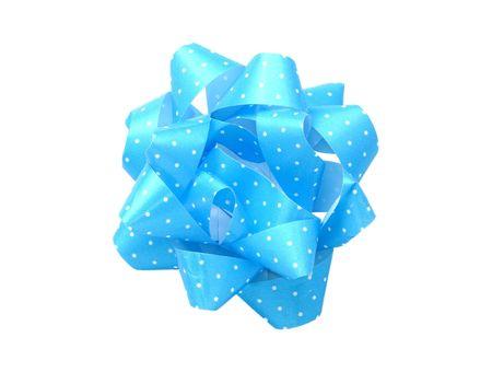 Blue Polka Dot Bow Reklamní fotografie