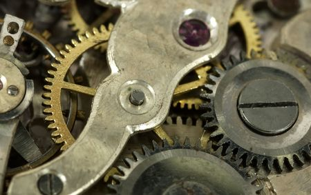 sprockets: Macro Photo of a Watch Movements  Gears Stock Photo