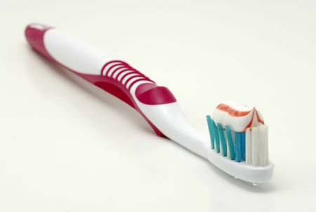 gingivitis: Toothbrush with Toothpaste
