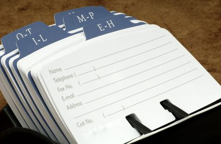 Photo of a Blank Rolodex Card