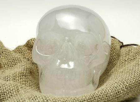 Photo of a Crystal Skull Banco de Imagens