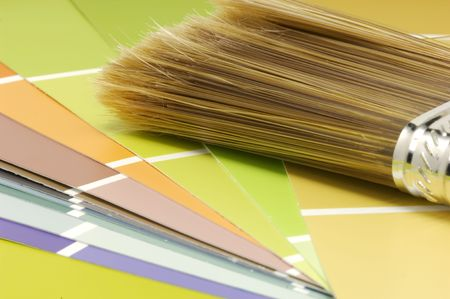Paint Brush and Color Swatches
