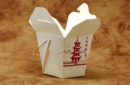 takeout: Photo of Chinese Food Takeout Carton Stock Photo