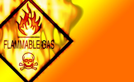 Flammable Warning SIgn Background Stock fotó - 344609