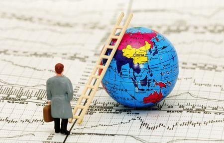 makelaardij: Ladder van Succes Concept