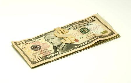 현금으로 머니 클립의 사진