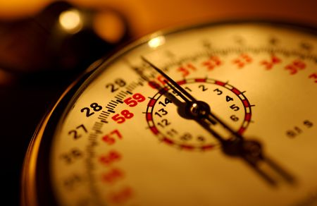 Stopwatch with Creative Lighting and Shallow DOF