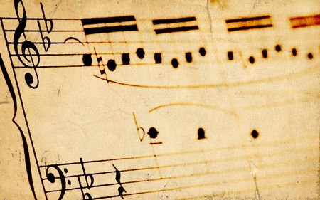 sheetmusic: Aged Sheetmusic Background