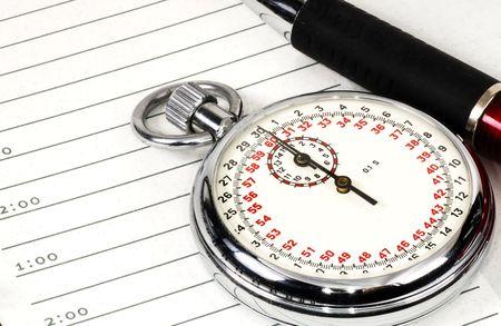 Stopwatch en Benoeming reserveren Stockfoto