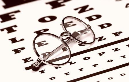 Eyechart のメガネ 写真素材