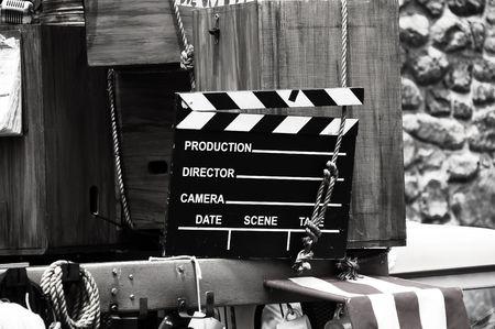 Phot van een film Leisteen Stockfoto