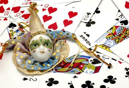 Court Jester and Playing Cards Redakční