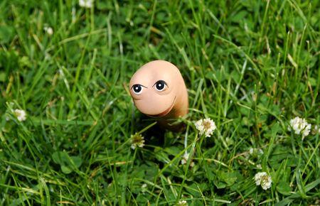 Worm Lawn Ornament Reklamní fotografie