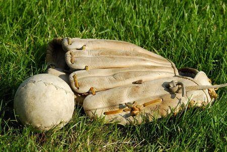 Softbal en Handschoen