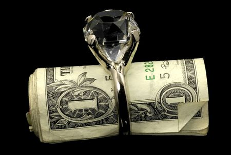 Diamond RIng and Money