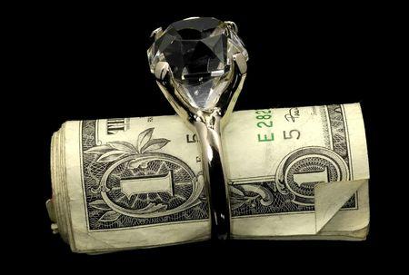 Diamond RIng and Money
