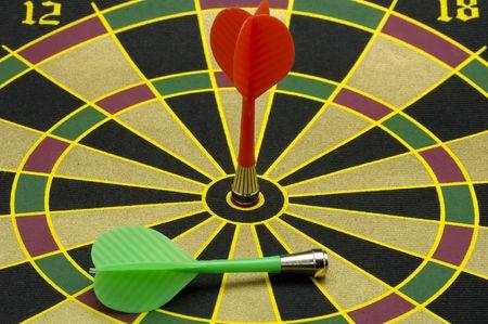 Darten op een Dartbord