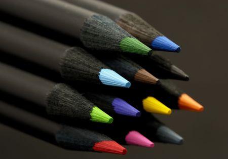 컬러 연필 사진 스톡 콘텐츠