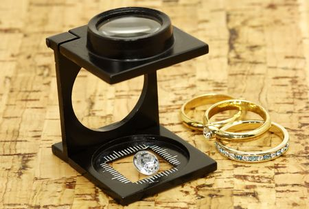 appraise: Loupe and a Diamond