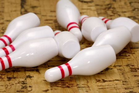 Knocked Down Bowling Pins