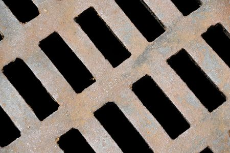metal grid: Sewer Grate