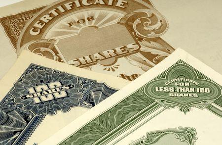 Photo of Stock Certificates
