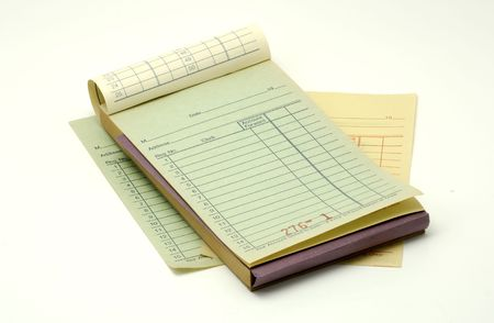 Photo of a Receipt Book