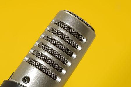 Foto van een microfoon