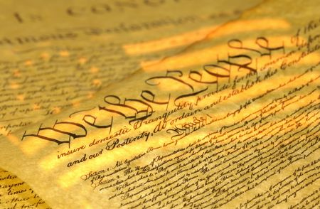 caligraphy: US Constitution