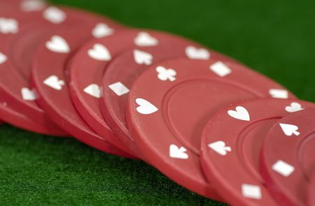 Photo of Red Poker Chips