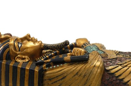 coffins: Egyptian Casket Stock Photo