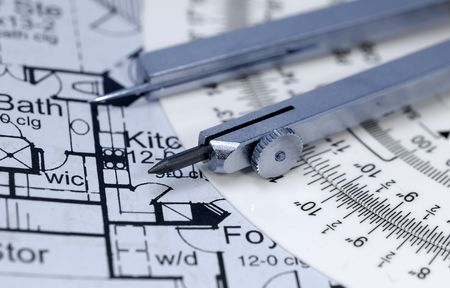 Blueprints and Drafting Related Items Stock Photo - 468422