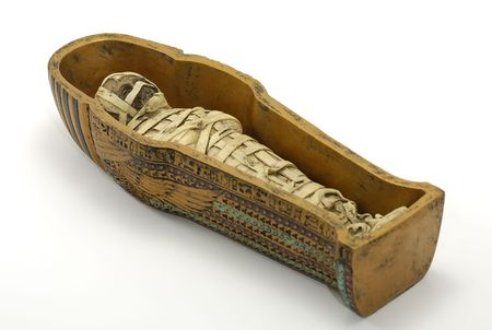 ancient egyptian culture: Mummy in a Casket
