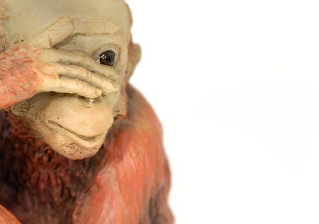 guerilla: Photo of a Chimpanzee Clay Sculpture