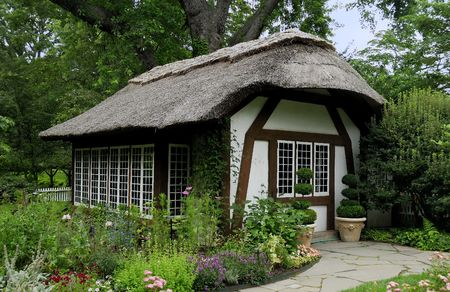 thatch: Photo of a Thatch Cottage Stock Photo
