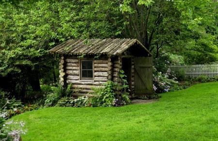 Stile log cabin  Archivio Fotografico - 483620