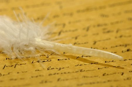 Parchment Paper and a Feather Stock Photo - 472328