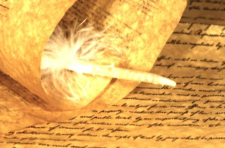Parchment Paper and a Feather photo