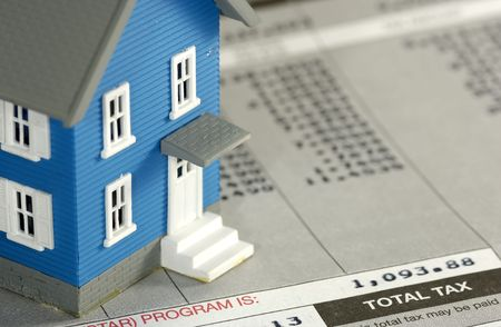 Homeowner Tax Concept Stock Photo - 483642