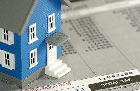 Homeowner Tax Concept Stockfoto