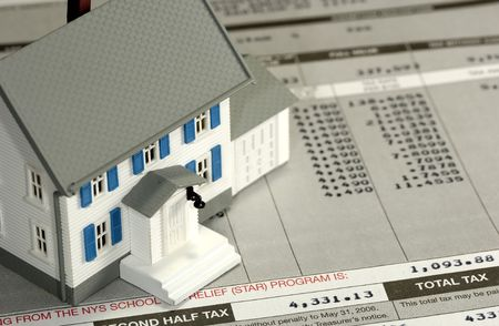 homeowner: Homeowner Tax Concept Stock Photo