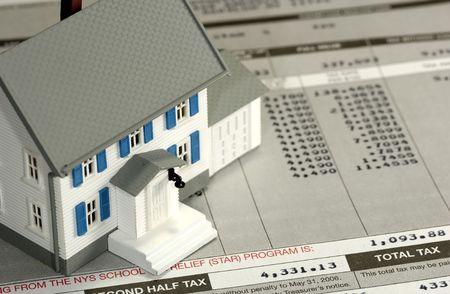 Propietario concepto de impuestos Foto de archivo