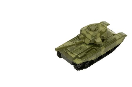 whitespace: Isolated Toy Army Tank With Whitespace For Copy Stock Photo