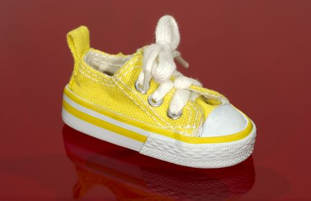 athletic wear: Photo of a Yellow Sneaker
