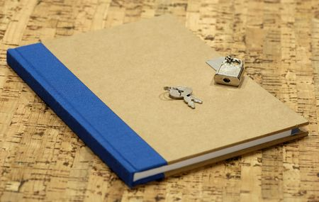 Journal With a Lock and Key Stock Photo