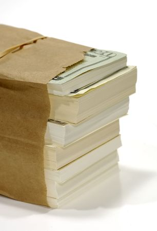 paperbag: Photo of a Paperbag With Cash