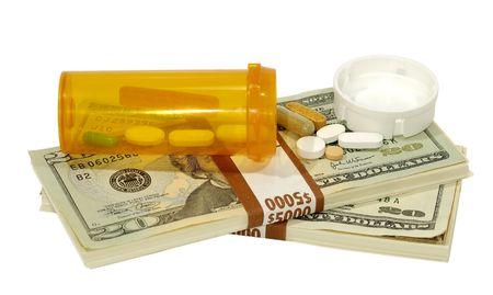 Hoge kosten van drugs Concept Stockfoto